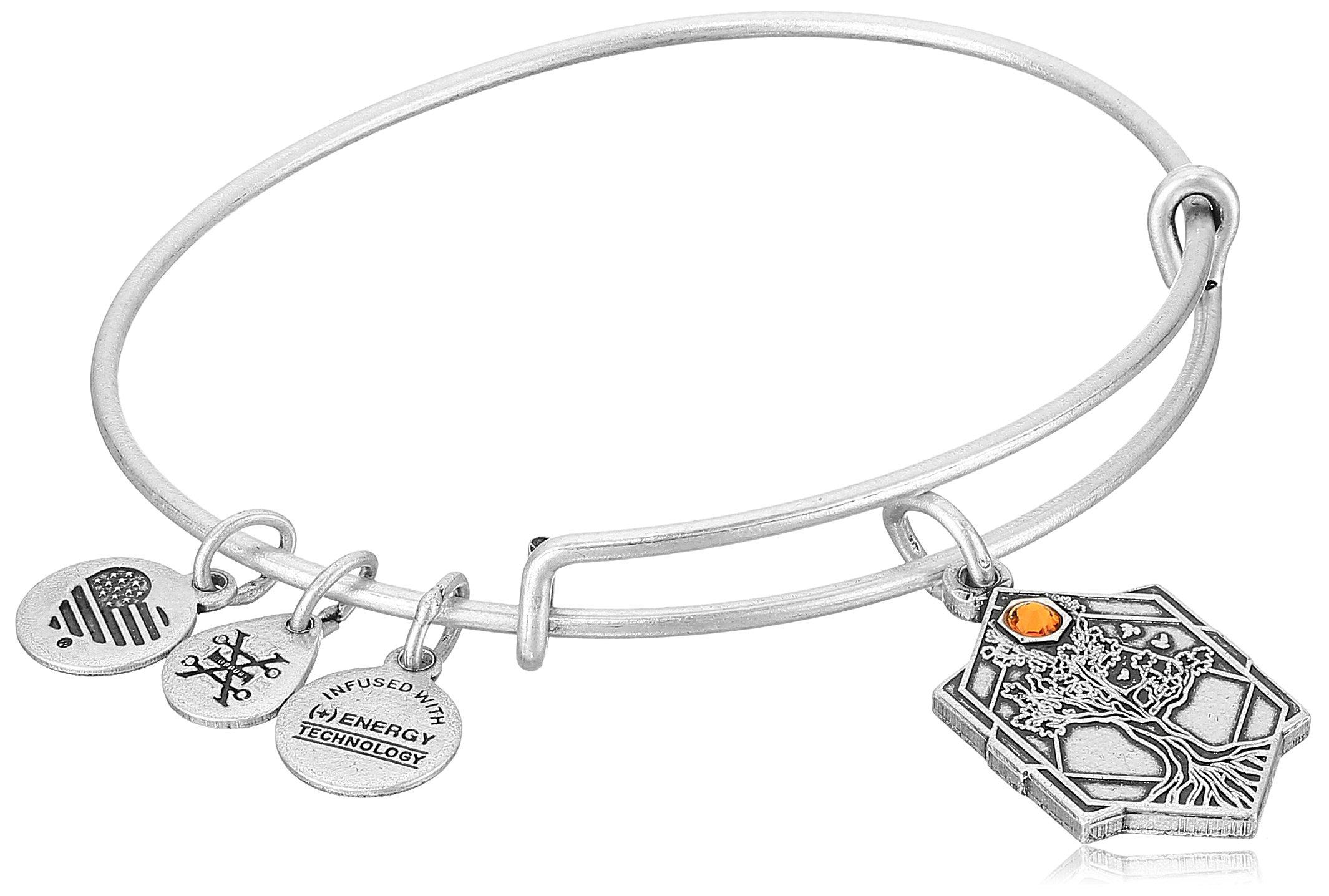 Alex and Ani Tree of Life IV Rafaelian Silver Bangle Bracelet