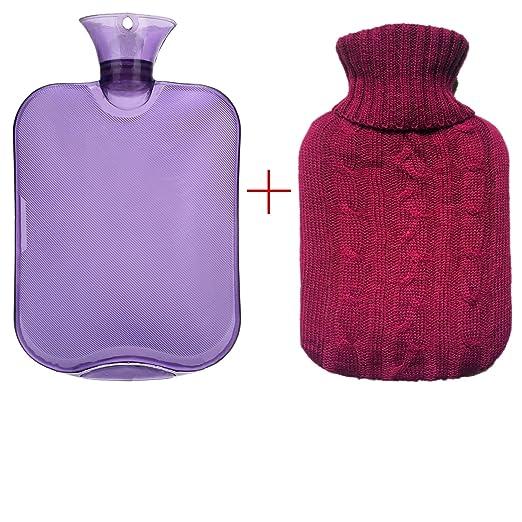 高级经典橡胶冷热两用水瓶+针织套$10.99