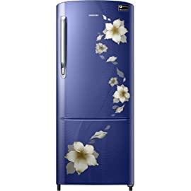Samsung 192 L 3 Star Inverter Direct Cool Single Door Refrigerator  RR20M172ZU2/HL/RR20M272ZU2/NL, Star flower blue
