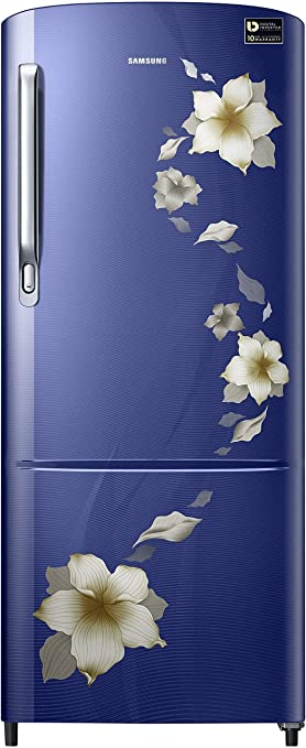 Samsung 192 L 3 Star Inverter Direct Cool Single Door Refrigerator (RR20M172ZU2/HL/RR20M272ZU2/NL, Star flower blue) Refrigerators at amazon