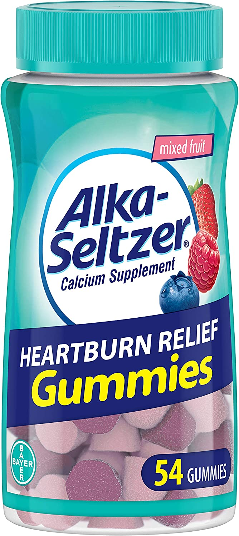 Alka-seltzer Heartburn Relief Gummies Mixed Fruit, 54Count