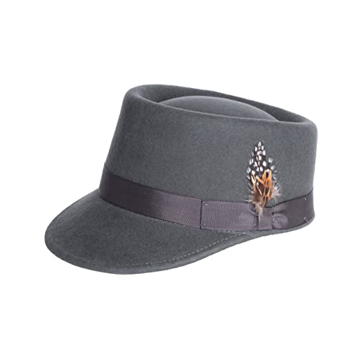 Ferrecci Modern Conductor Train Engineer Hat With Feather - 100 ... 092871dd45d1