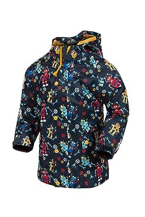 988014a622d3 Target Dry Riley Boys Printed Waterproof Jacket (Navy Robot Print