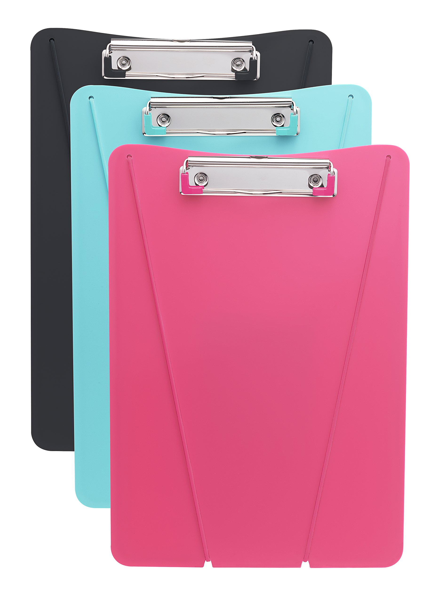 HOM Essence Ultimate Clipboard, 9'' x 13'', Black, Mint, Pink w/ Matching  Elastic (Assorted Colors)