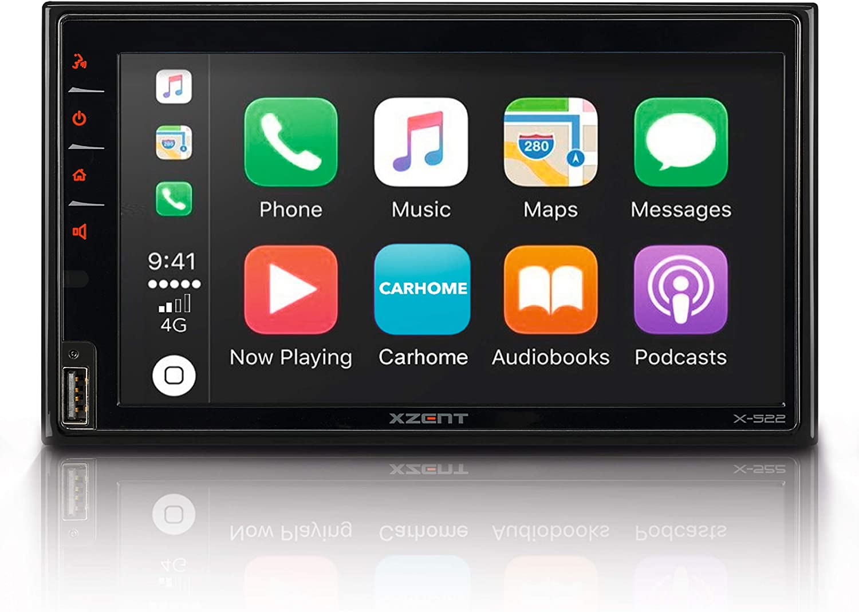 Xzent X 522 Infotainer 2 Din Mediencenter Multimediasystem Mit 17 1 Cm 6 75 Touchscreen Dab Bluetooth Usb Radio Autoradio Mit Apple Carplay Und Google Android Auto Navigation