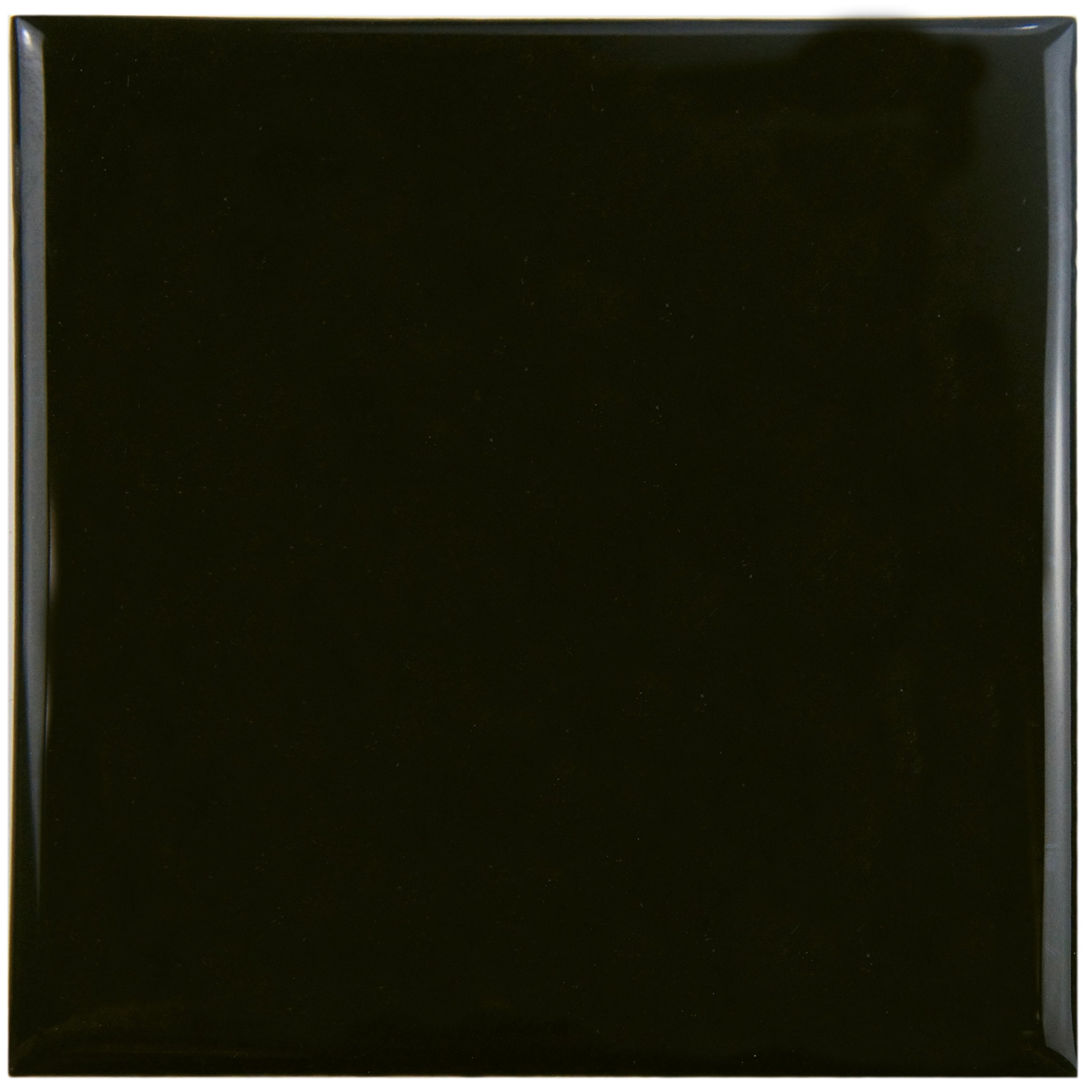 SomerTile WRC4TWBO Torsio Square Ceramic Wall Tile, 3.75'' x 3.75'', Olive Black by SOMERTILE
