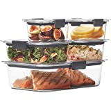 Rubbermaid Brilliance - Recipiente para alimentos, Brilliance Juego de 10 piezas, Transparente, Brilliance 10pc Set, 1