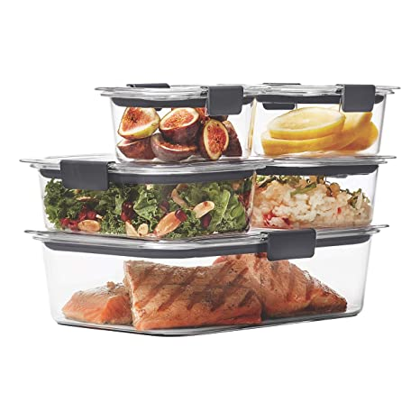 amazon com rubbermaid brilliance food storage container clear 10 rh amazon com
