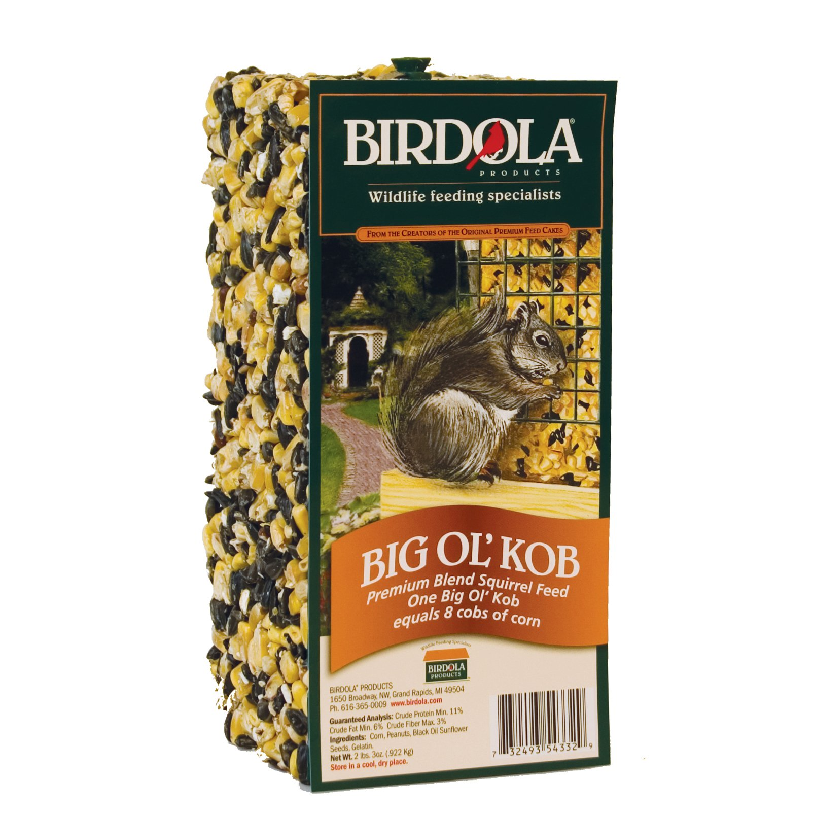 Birdola Products 54332 Squirola Big Ol' Kob' Squirrel Food