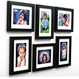 AJANTA ROYAL Classic Individual Synthetic Wooden Photo Frames, 6-6x8-inch(Black, A-81A) - Set of 6