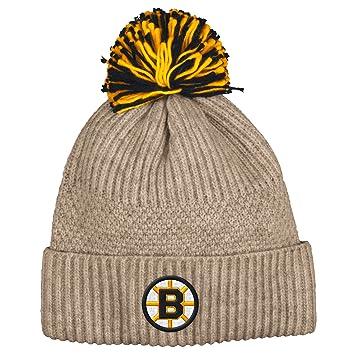 abea77f375e Boston Bruins Mitchell   Ness NHL  quot Beige Speckle quot  Premium Cuffed  Knit Hat w