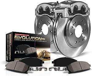 Power Stop KCOE2382 Autospeciality Replacement Rear Caliper Kit- OE Rotors, Ceramic Brake Pads, Calipers