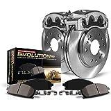 Carbon-Fiber Ceramic Brake Pads Z23 Evolution Rear Kit Rotors Power Stop KC7881 Calipers