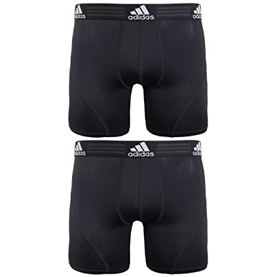 adidas Men's Sport Performance Climalite Boxer Brief Underwear (2 Pack): Clothing