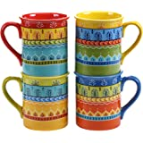 Certified International Valencia Mugs (Set of 4), 16 oz, Multicolor