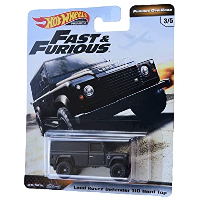 Hot Wheels Furious Off Road Land Rover Defender 110 Hard Top 3/5, Black: Toys & Games