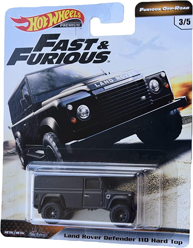 Amazon Com Hot Wheels Furious Off Road Land Rover Defender 110 Hard Top 3 5 Black Toys Games