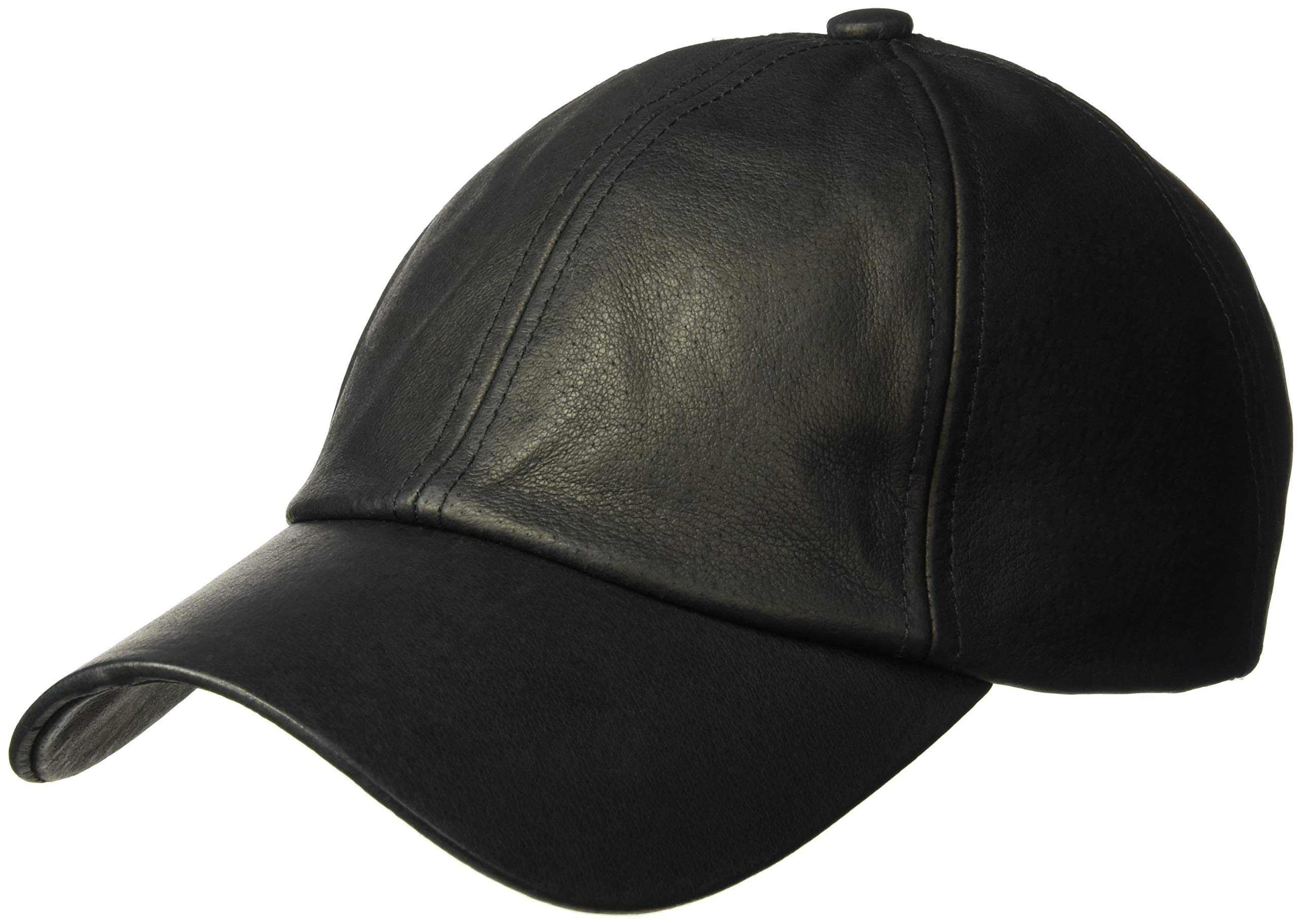 Michael Stars Women's Luxe Leather Cap, Black One Size