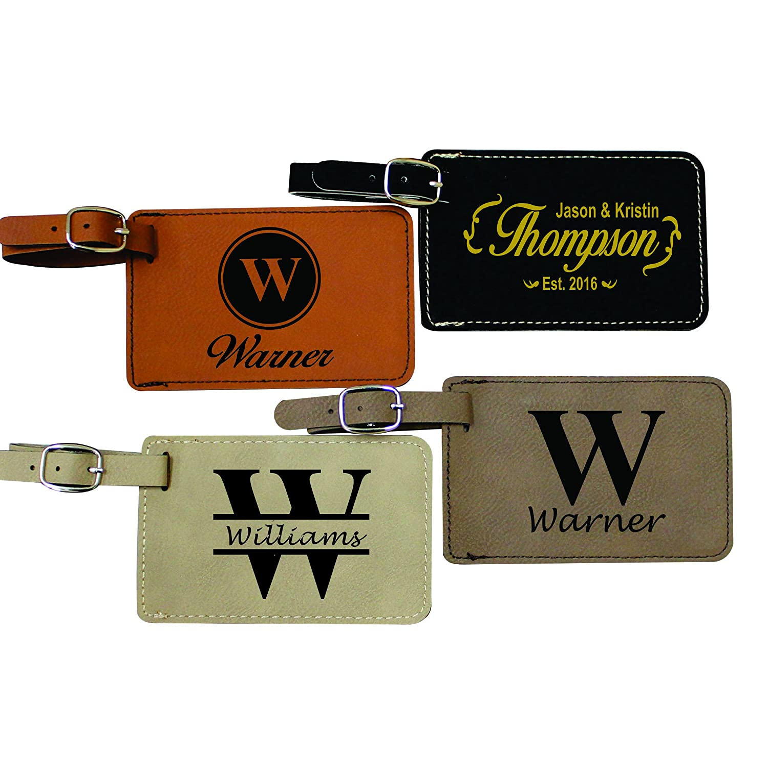 Amazon.com: Personalized Luggage Tags - Engraved Monogrammed ...