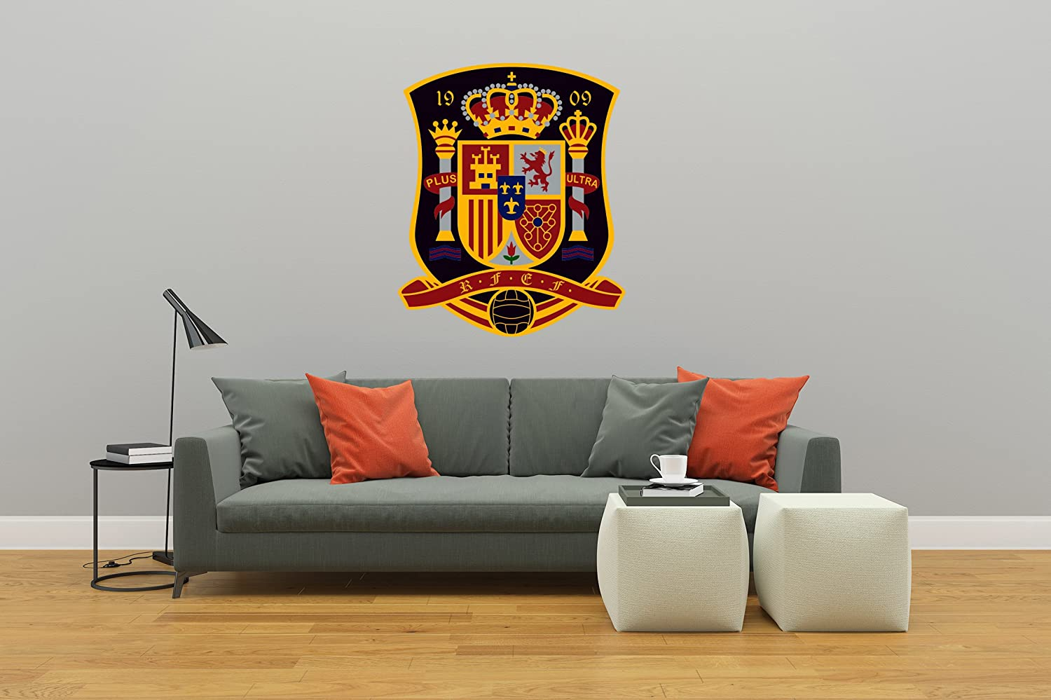 Ottosdecal Spain Soccer National Team - Wall Decal Vinyl Sticker for Home Interior Decoration Bedroom, Laptop, Window, Mirror, Car (20