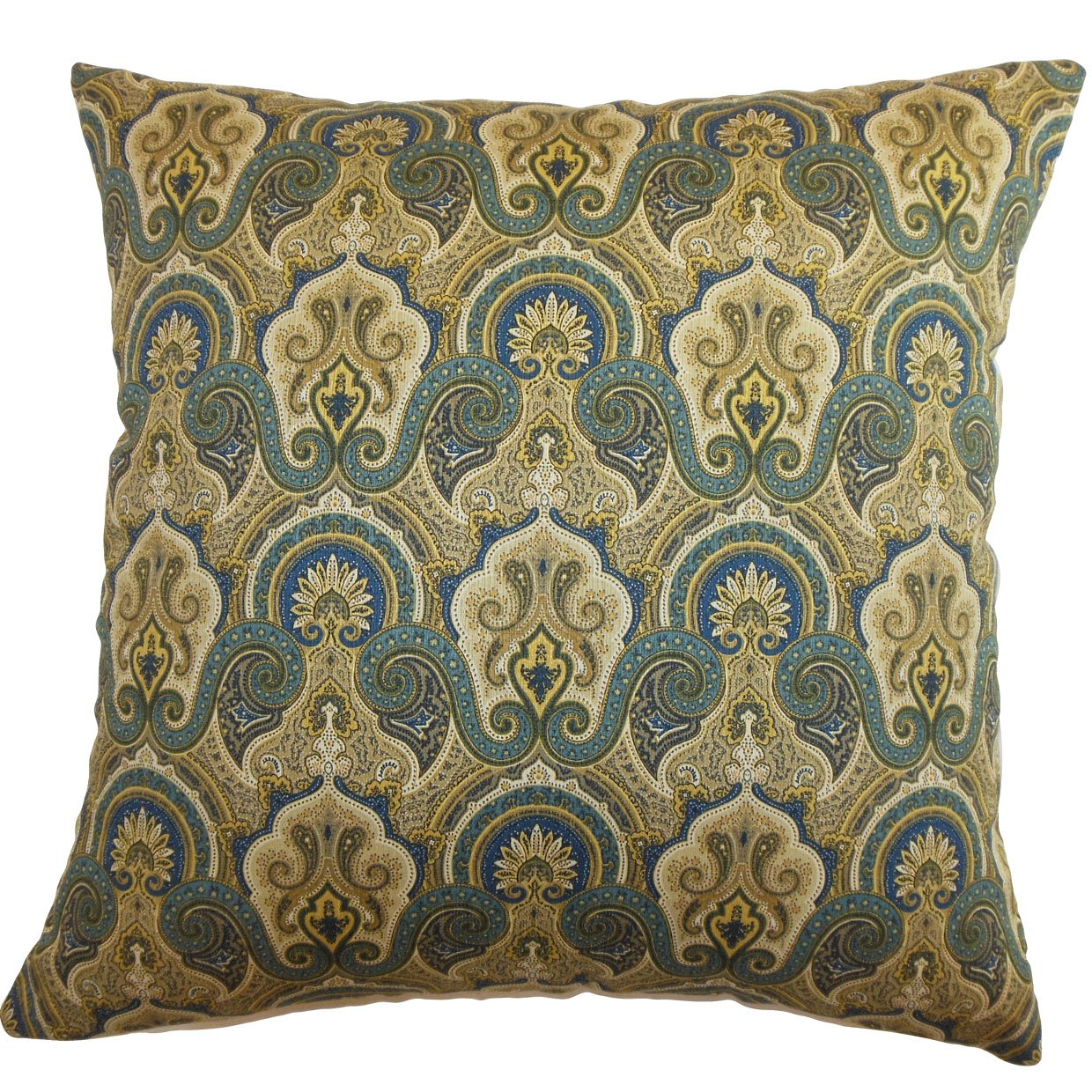 The Pillow Collection Hagfors Paisley Pillow Blue
