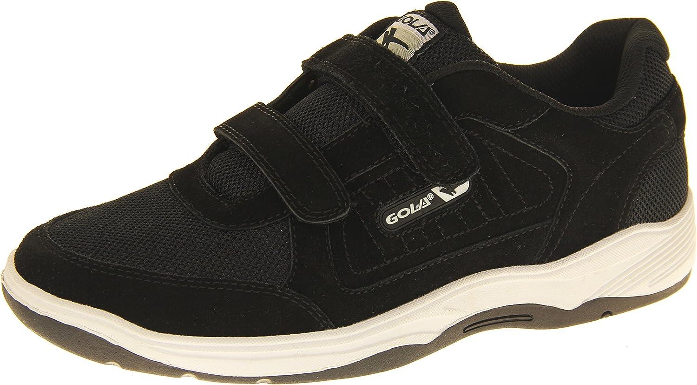 Gola AMA202 Belmont Hombre Zapatillas de Deporte del Velcro de Cuero Real