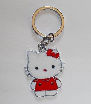 Amazon.com: Metal Single Hello Kitty Llavero – Rojo: Office ...