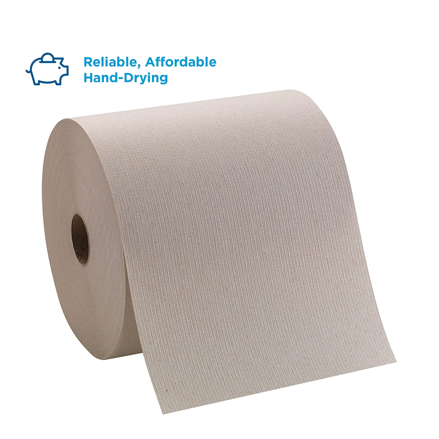 Pacific Blue Basic Recycled Hardwound Paper Towel Rolls by GP PRO (Georgia-Pacific), Brown, 26301, 800 Feet Per Roll, 6 Rolls Per Case: Hand Towel Dispenser: Industrial & Scientific