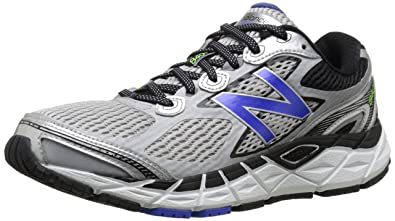 New Balance Men's M840V3 Running Shoe, Silver/Blue, 7 D US