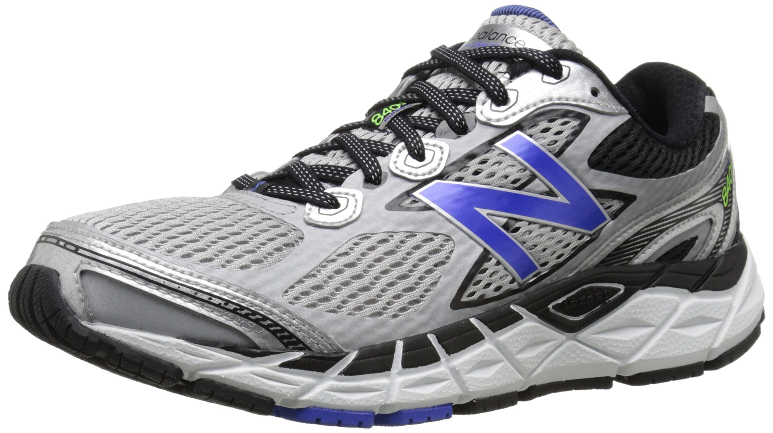 New Balance Men's M840V3 Run Shoe-M, Silver/Blue, 14 4E US
