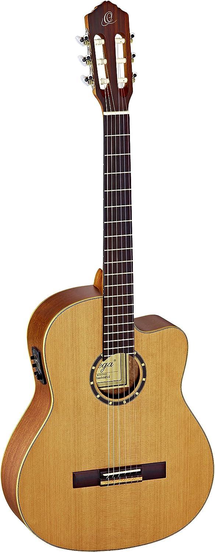 Ortega RCE131SN - Guitarra clásica (cedro y caoba, tamaño 4/4)