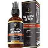 Suero de retinol para la piel (2 oz) con Ácido Hialurónico + Vitamina A y E + Aloe Vera Crema hidratante antienvejecimiento -