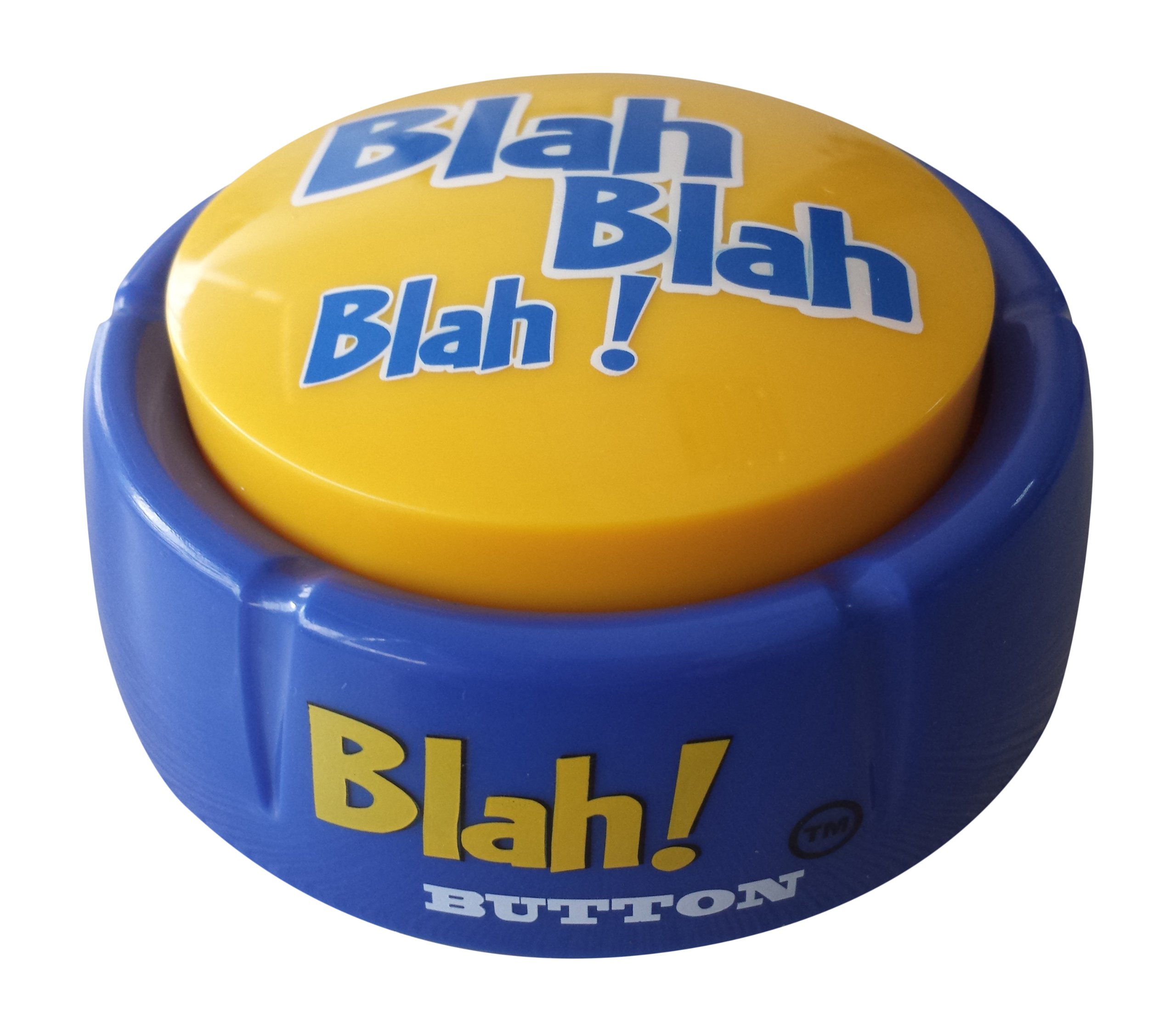 Talkie Toys Products Blah Button -Talking Button Features Hilarious Blah Sayings - Funny Gifts for Calling Out Political Blah Blah, Fake News and More