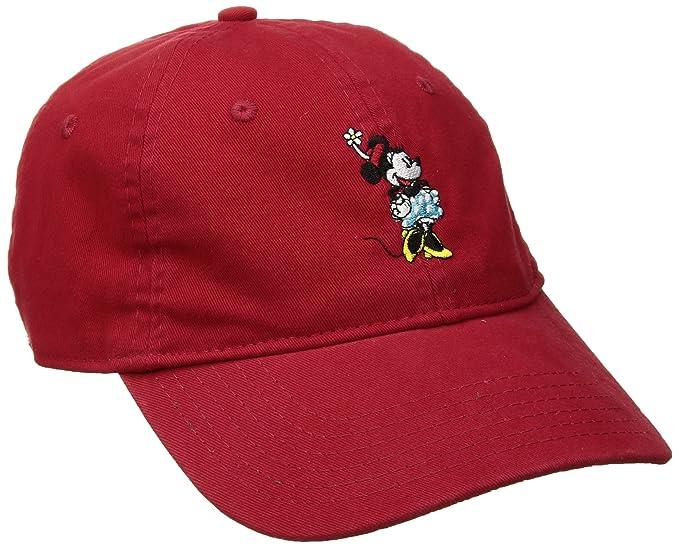Disney Minnie Mouse - Gorra de béisbol Lavada para Mujer 15836313ff5