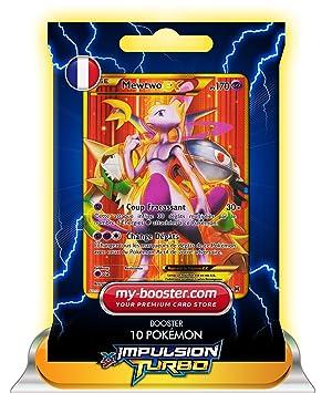 carte pokemon full art MEWTWO EX FULL ART secrete 164/162 170PV XY08 IMPULSION TURBO