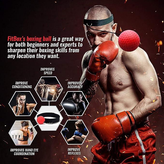 Unisex Boxing Fight Ball With Elastic Headband Focus Reflex Speed Training Tool