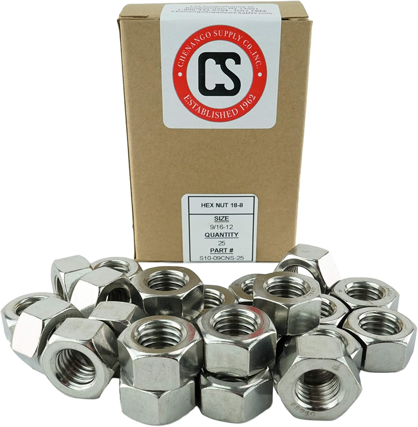 """304 Qty 10 9//16-12 x 6/"""" Stainless Steel Hex Cap Screw Bolt 18-8"""