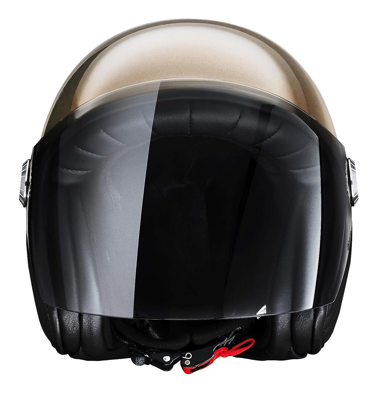 l/éger et futuriste pour Scooters et Motos Uptown Black, M en Fibre de Carbone Casque Ujet