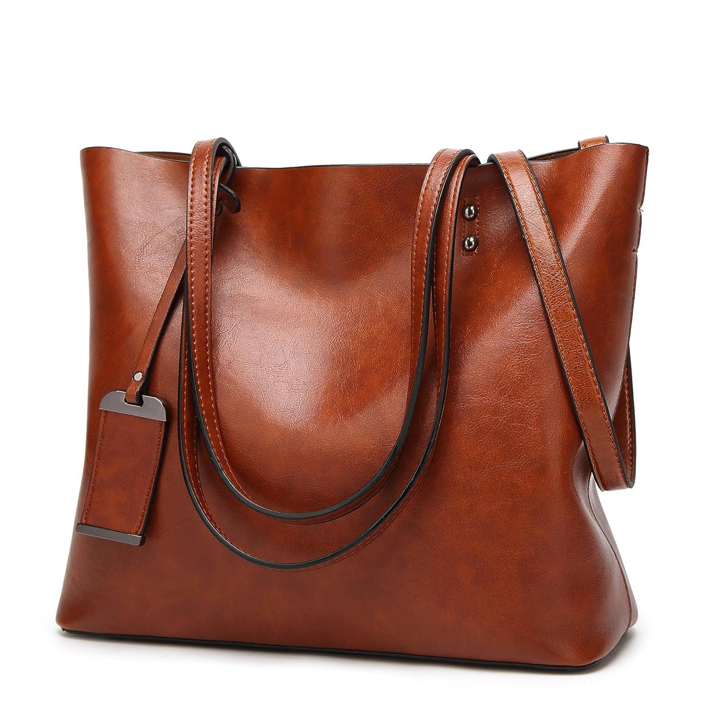 Obosoyo Women Shoulder Tote Satchel Bag Lady Messenger Purse Top Handle Hobo Handbags BB042-Black