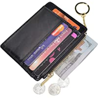 Woogwin Womens Slim RFID Credit Card Holder with Keychain