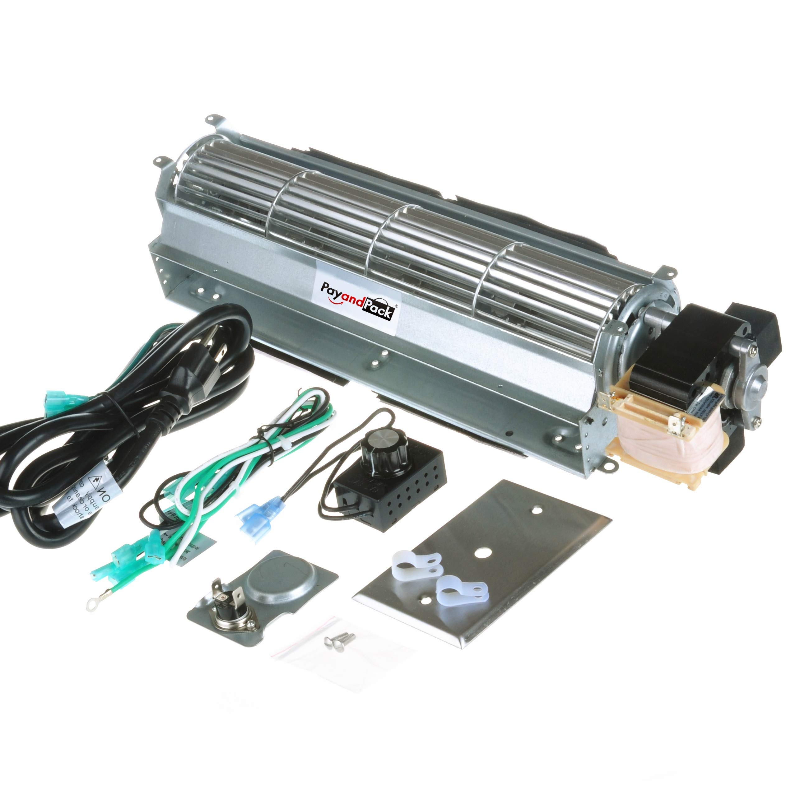 Durablow BK BKT GA3650 GA3700 GA3750 Replacment Fireplace Blower Fan Unit for Desa, FMI, Vanguard, Vexar, Comfort Flame Glow, Rotom ... (MFB010-B) by Durablow