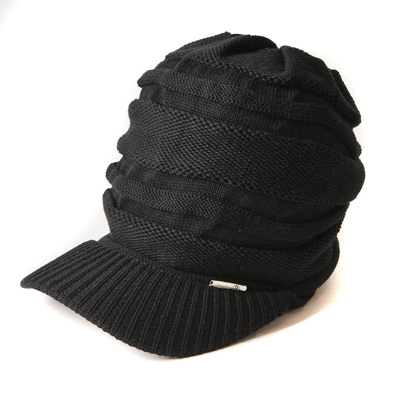 f40f34885c6 Casualbox mens Peak Cap Beanie Knit Hat Summer Warm Slouch Baggy Unisex  Black at Amazon Women s Clothing store