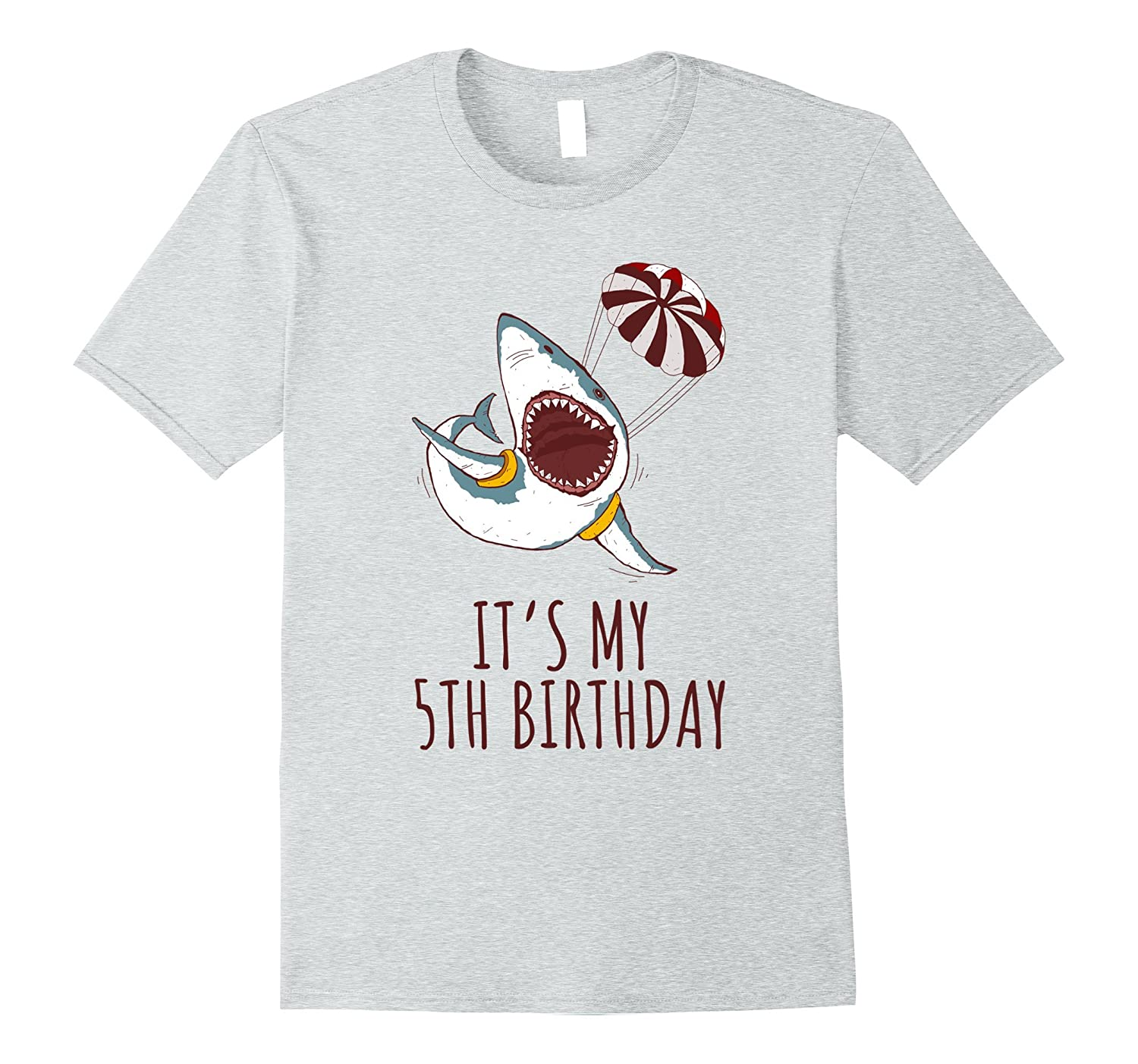 Its My 5th Birthday Shark Lovers TShirt For Boys