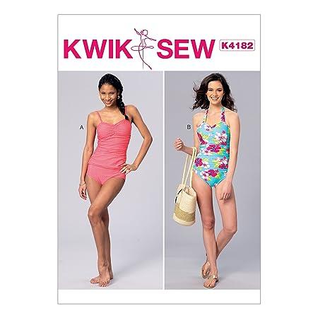 Kwik Sew Patterns K4182OSZ Misses Swimsuits Sewing Pattern, Tissue ...