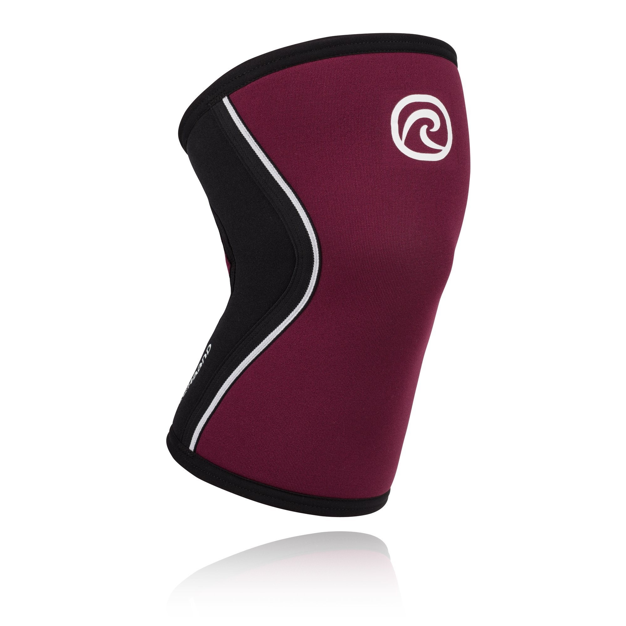 Rehband Rx Knee Support 5mm - X-Small - Burgundy - Expand Your Movement + Cross Training Potential - Knee Sleeve for Fitness - Feel Stronger + More Secure - Relieve Strain - 1 Sleeve
