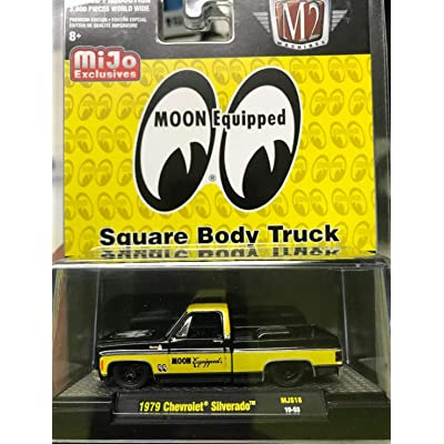 M2 Machines 1979 Chevrolet Silverado MIJO Exclusive Moon Equipped Square Body Truck Yellow DIECAST: Toys & Games