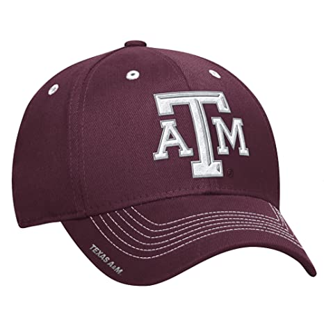 big sale 22dbf 90933 NCAA Texas A M Aggies Men s Coach s Structured Flex Cap, Small Medium,  Maroon