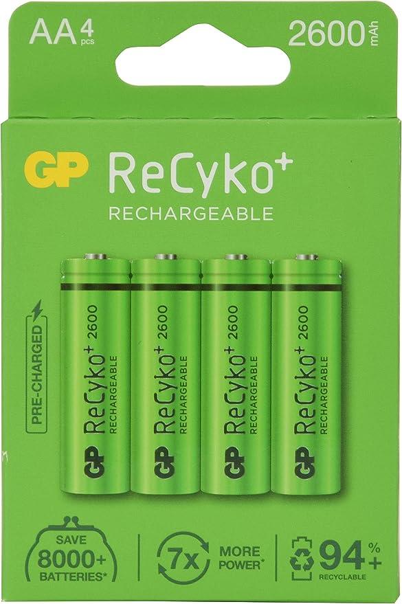 GP ReCyko+ 2600 AA card of 4: Amazon.co.uk: Camera & Photo