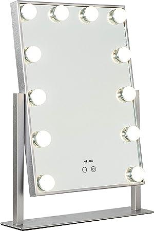 specchio illuminato Specchio da toeletta Hollywood con luci WONSTART da tavolo o da parete specchio illuminato con lente di ingrandimento 10 18 lampadine a LED