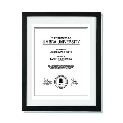 Amazon.com: Umbra Document Frame 11x14 inch – Modern Picture Frame ...